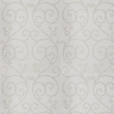 White Sparkle Scrollwork Decorator Fabric by Trend