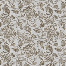 Putty Floral Decorator Fabric by Fabricut
