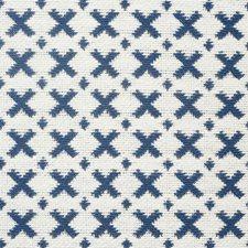 Blue/amp/Ivory Decorator Fabric by Schumacher