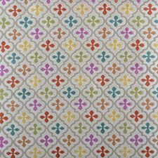 Raspberry Geometric Decorator Fabric by Highland Court