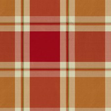 Bittersweet Plaid Decorator Fabric by Brunschwig & Fils