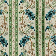 Aqua/Green Asian Decorator Fabric by Brunschwig & Fils