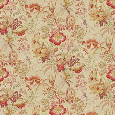 Red/Yellow Print Decorator Fabric by Brunschwig & Fils