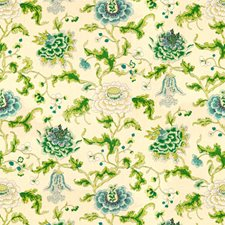 Spring/Aqua Botanical Decorator Fabric by Brunschwig & Fils