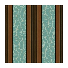 Turquoise Stripes Decorator Fabric by Brunschwig & Fils