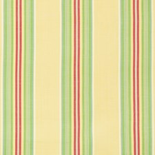 Maize/Green Stripes Decorator Fabric by Brunschwig & Fils