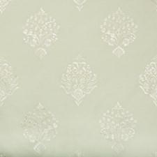 Seafoam Embroidery Decorator Fabric by Brunschwig & Fils