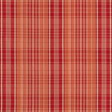 Coral Plaid Decorator Fabric by Brunschwig & Fils