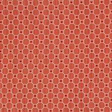 Red Geometric Decorator Fabric by Brunschwig & Fils