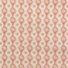 Red/Beige Ethnic Decorator Fabric by Brunschwig & Fils