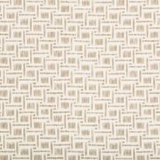Beige Geometric Decorator Fabric by Brunschwig & Fils