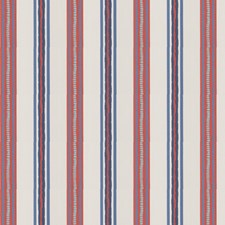 Persimmon Stripes Decorator Fabric by Stroheim