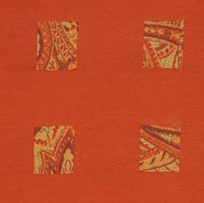 Tangerine Geometric Decorator Fabric by S. Harris