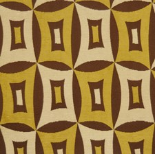 Golden Olive Geometric Decorator Fabric by S. Harris