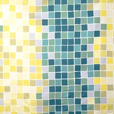Aqua Geometric Decorator Fabric by S. Harris