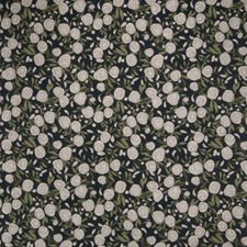 Indigo Floral Decorator Fabric by S. Harris