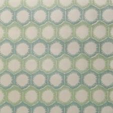 Seaglass Geometric Decorator Fabric by S. Harris