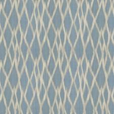 Bluestone Flamestitch Decorator Fabric by S. Harris