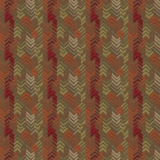Poppy Flamestitch Decorator Fabric by S. Harris