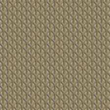 Citrine Geometric Decorator Fabric by Trend