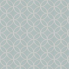 Aqua Embroidery Decorator Fabric by Trend