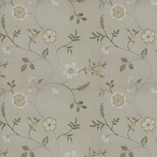 Silver Embroidery Decorator Fabric by Trend