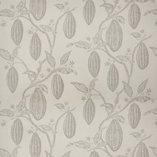 Cool Fog Leaves Decorator Fabric by Vervain