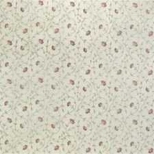 White/Pink/Green Botanical Decorator Fabric by Kravet