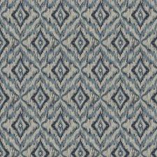 Blue Geometric Decorator Fabric by Trend