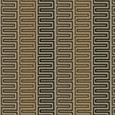 Walnut Geometric Decorator Fabric by Trend
