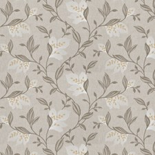 Mustard Embroidery Decorator Fabric by Trend