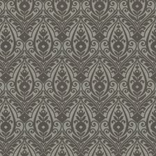 Charcoal Damask Decorator Fabric by Trend