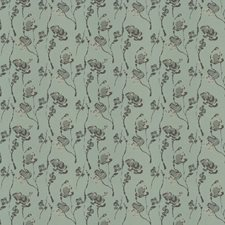Aqua Floral Decorator Fabric by Trend