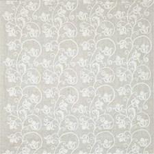 White Botanical Decorator Fabric by Kravet