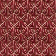 Crimson Flamestitch Decorator Fabric by Vervain