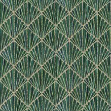 Peacock Flamestitch Decorator Fabric by Vervain