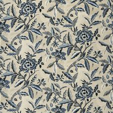 Indigo Floral Decorator Fabric by Fabricut