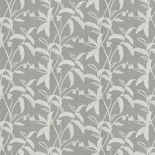 Silver Embroidery Decorator Fabric by Fabricut