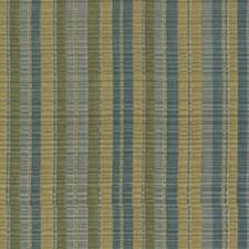 Green/Blue Stripes Decorator Fabric by Kravet