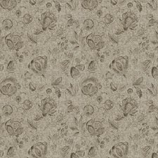 Beige Floral Decorator Fabric by Trend