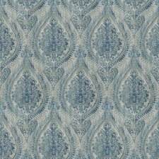 Aquamarine Print Pattern Decorator Fabric by Trend