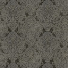 Dusk Gray Paisley Decorator Fabric by Stroheim
