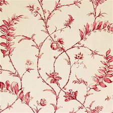 Red Toile Decorator Fabric by G P & J Baker