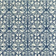 Indigo/White/Dark Blue Geometric Decorator Fabric by Kravet