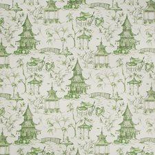 White/Green Asian Decorator Fabric by Kravet
