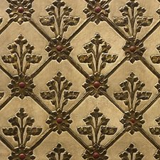 White/Gold Decorator Fabric by Scalamandre