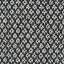 Indigo Ikat Decorator Fabric by Greenhouse