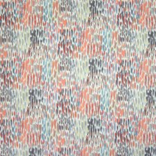 Coral Dot Circle Decorator Fabric by Greenhouse