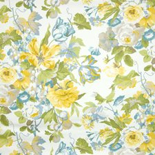 Lemon Floral Decorator Fabric by Greenhouse