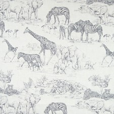 Graphite Novelty Decorator Fabric by Greenhouse
